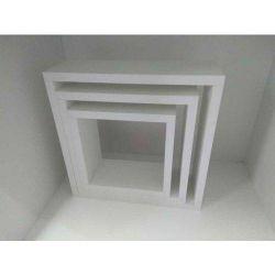 Kit c/ 3  Nichos Quadrado Branco